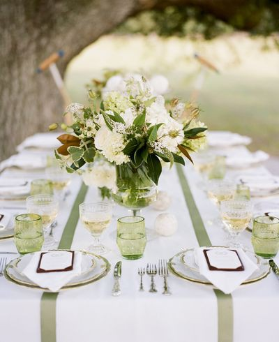 Green White Table Setting2