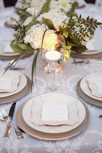 Green White Table Setting5