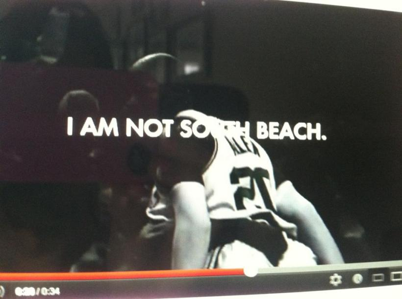 Ray Allen, I am not south beach