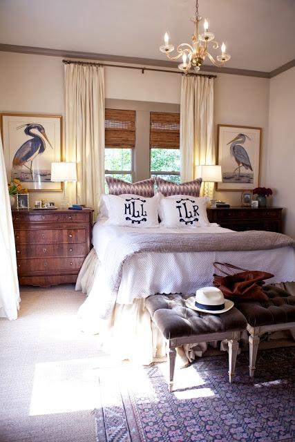 Neutral Bedding Dark Furniture
