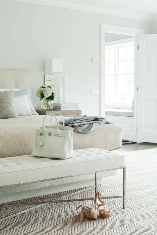 White and Mint Neutral Bedroom