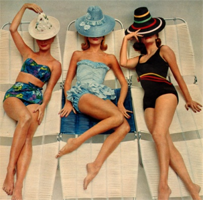 swimsuits and hats